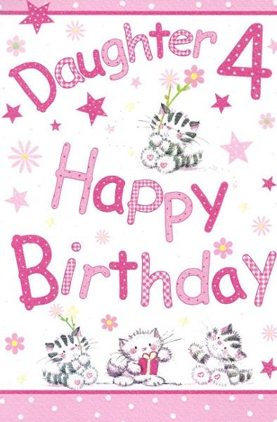 Juvenile birthday greetings daughter 4th happy birthday m4hsunfo