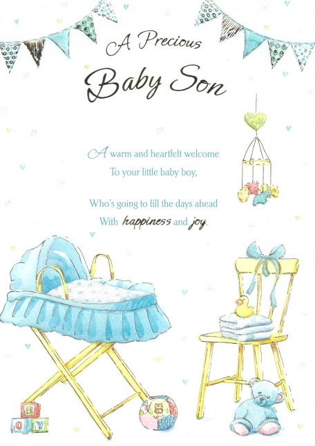 Baby boy greetings card a gorgeous gift baby boy greetings m4hsunfo