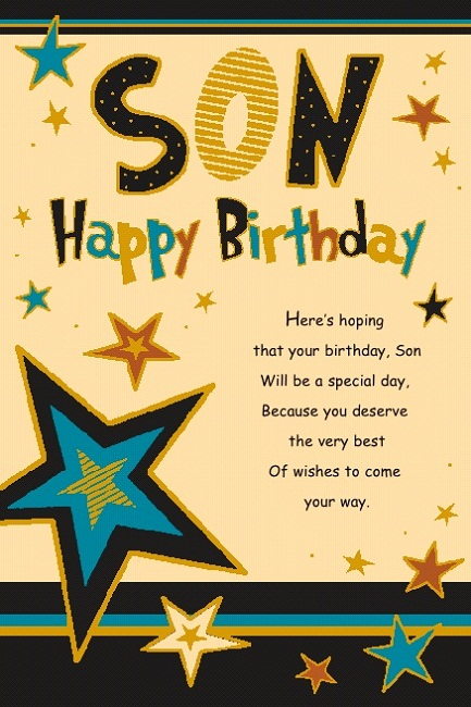 Son Birthday Greetings – Birthday Greeting for Son