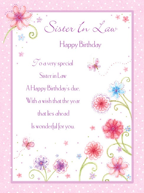Happy Birthday Poems For Sister In Law Archidev