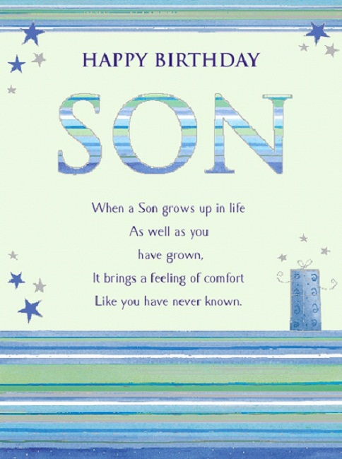 Son birthday greetings birthday greetings son m4hsunfo