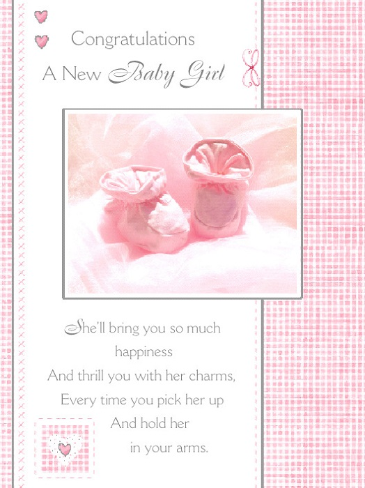 Baby girl greetings card a precious gift baby girl greetings card m4hsunfo