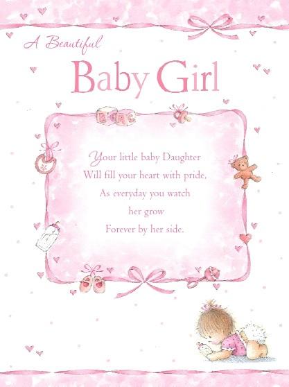 Baby Girl Greetings Card A Precious Gift